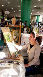 Valdy dipingendo in una giornata